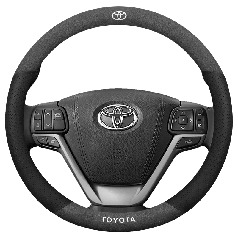 Suede Leather Steering Wheel Cover Car-Styling Accessories for Toyota 86 Avanza Avensis Cami CROWN FJ Cruiser Hilux Solara Rav4
