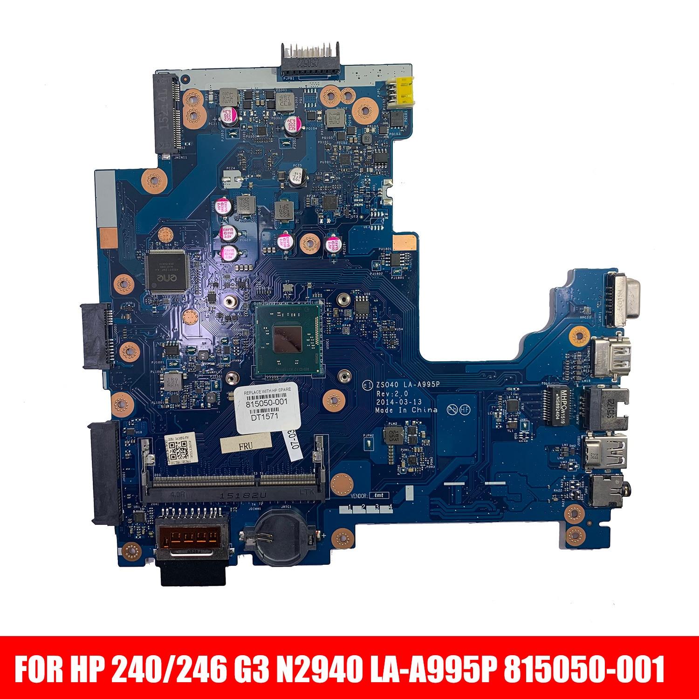 815050-001 815050-501 815050-601 N2940 CPU UMA ZSO40 LA-A995P ل HP 240/246 G3 الدفتري المحمول PC اللوحة اللوحة
