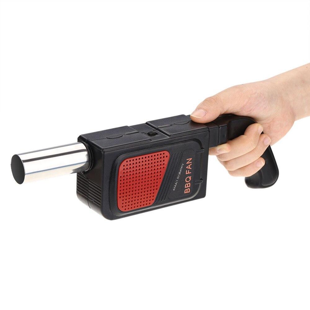 Sopladores de aire de Ventilador de barbacoa, soplador eléctrico de mano, fuelle para barbacoa, exteriores, Campamento, Picnic, barbacoa, herramienta de cocina