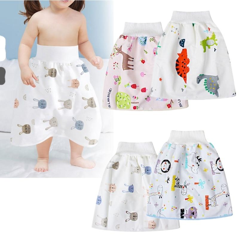 1 Pc Baby Waterproof Diaper Skirt Pants 2 in 1 Comfy Children's Adult Diaper Shorts Baby Loose Absorbent Shorts Underwear Unisex