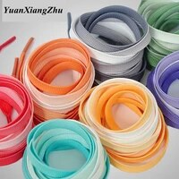 1pair fashion colorful shoelaces candy gradient boot shoelace silk canvas sneaker shoe laces growing rainbow strings bc 2