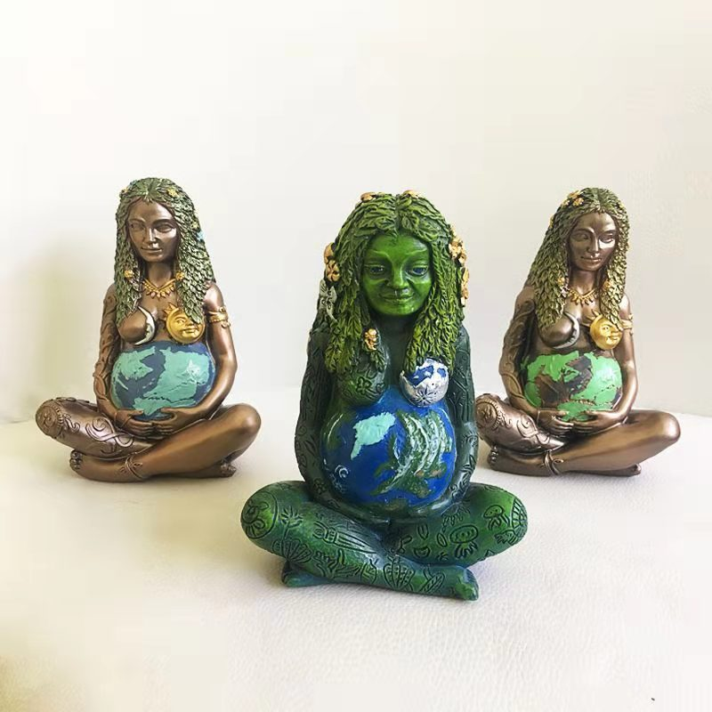 Nordic Ins Mother Earth Desktop Resin Decorations Mother Earth Character Gaia Goddess Living Room Bedroom Desk Ornaments michael bohoskey messages from mother earth