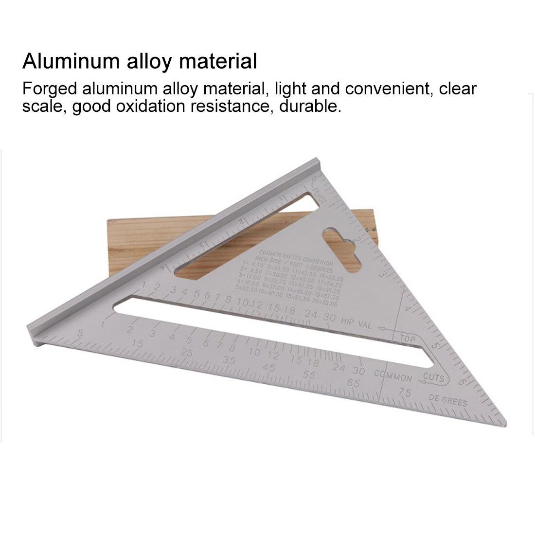 Измерительная линейка из алюминиевого сплава, измерительные приборы, треугольная квадратная линейка, скорость, квадратная кровля, треугол...