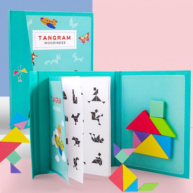 Rompecabezas 3D magnético, juego Tangram Montessori, juegos educativos de dibujo, juguete para regalo para niños