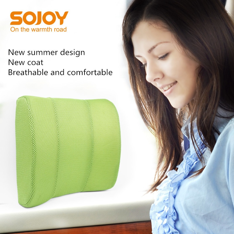Cojín Lumbar SOJOY, cojín Lumbar suave de espuma de alta densidad, cojín Lumbar de apoyo para asiento de coche, sillas de oficina y hogar