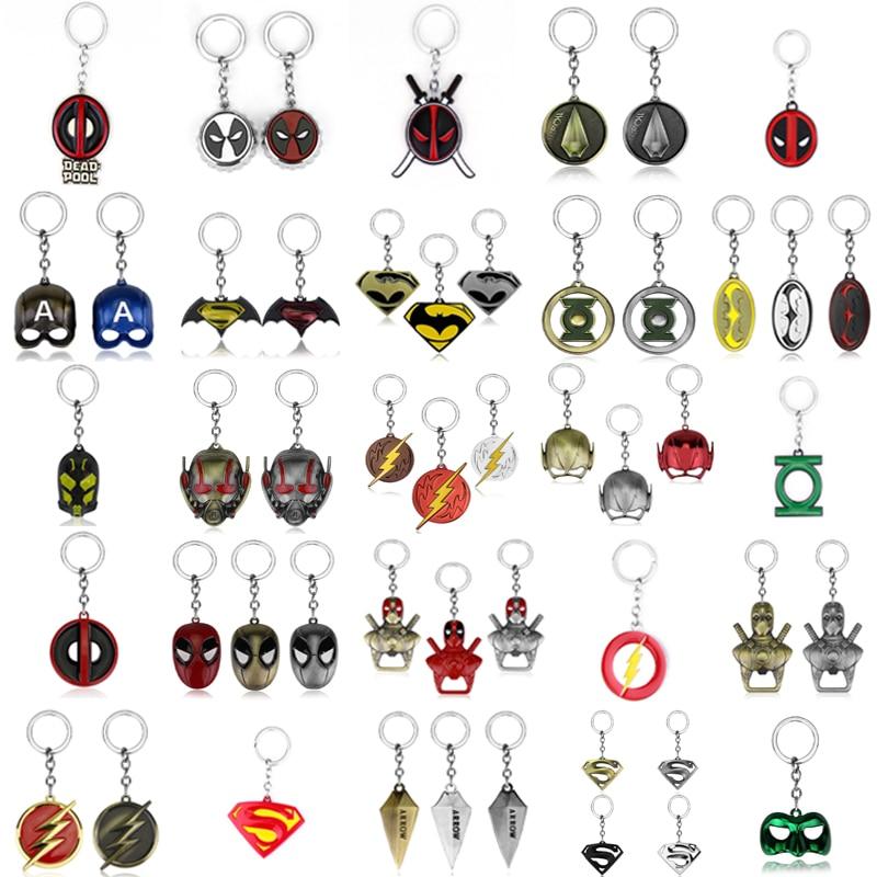 Супергерой серии DC, брелок с подвеской, Супермен, Зеленая Стрела, Бэтмен, Зеленый Фонарь, Дэдпул, флэш-брелок для женщин, мужчин, фанатов, подарки