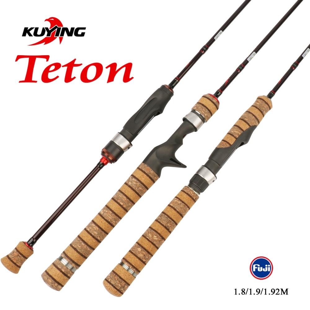 قصبة صيد سمك السلمون المرقط من KUYING Teton 1.8 متر 1.9 متر 1.92 متر UL فائقة الخفة وصب من الكربون