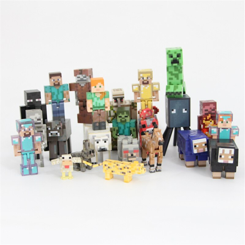 Funny Computer Game Action Figures Collection Plastic PVC Car Home Decor Birthday Gifts for Boys Girls Models Funny Dolls