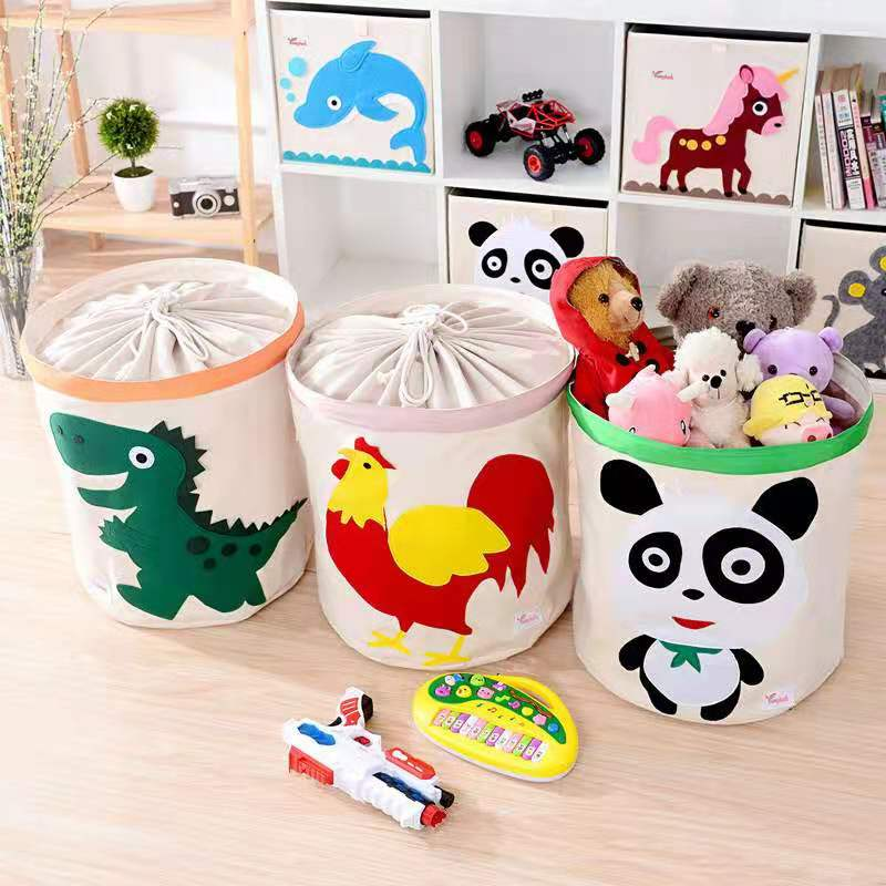 سلة غسيل للأطفال ، دلو تخزين ألعاب الأطفال ، سلة قماشية كرتونية ، صندوق ملابس متسخ كبير