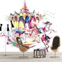 milofi factory custom wallpaper mural 3d modern art hand painted abstract carousel decorative painting background wall