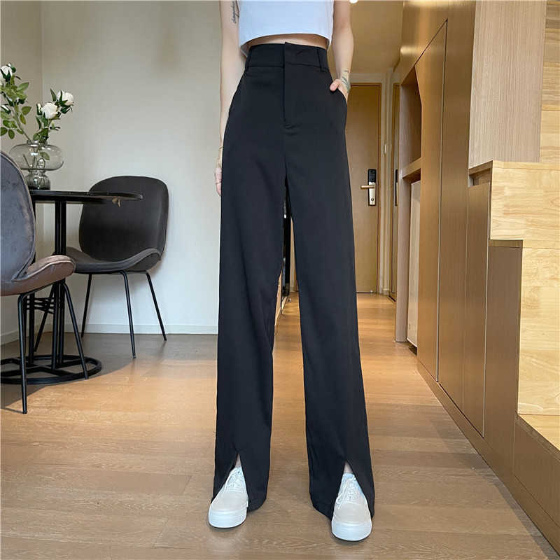 Real Shot Wide-Leg Pants Women's Summer Thin 2021 New Small