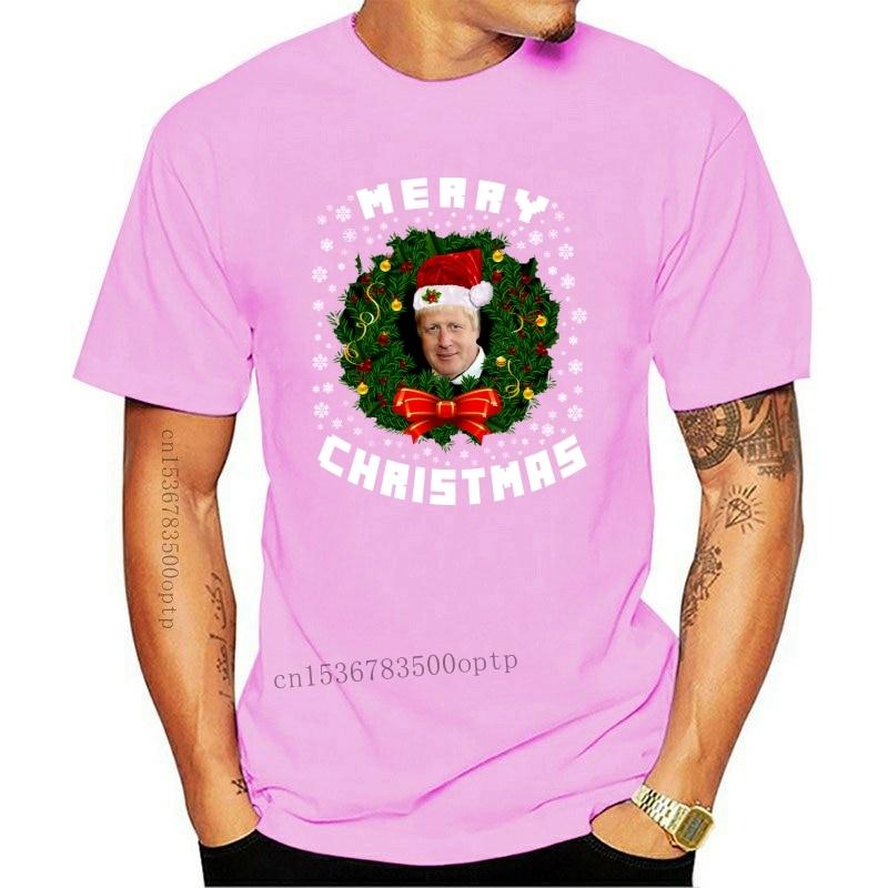 New Boris Johnson T-Shirt British Prime Minister Politician Festive Xmas T-Shirt Top