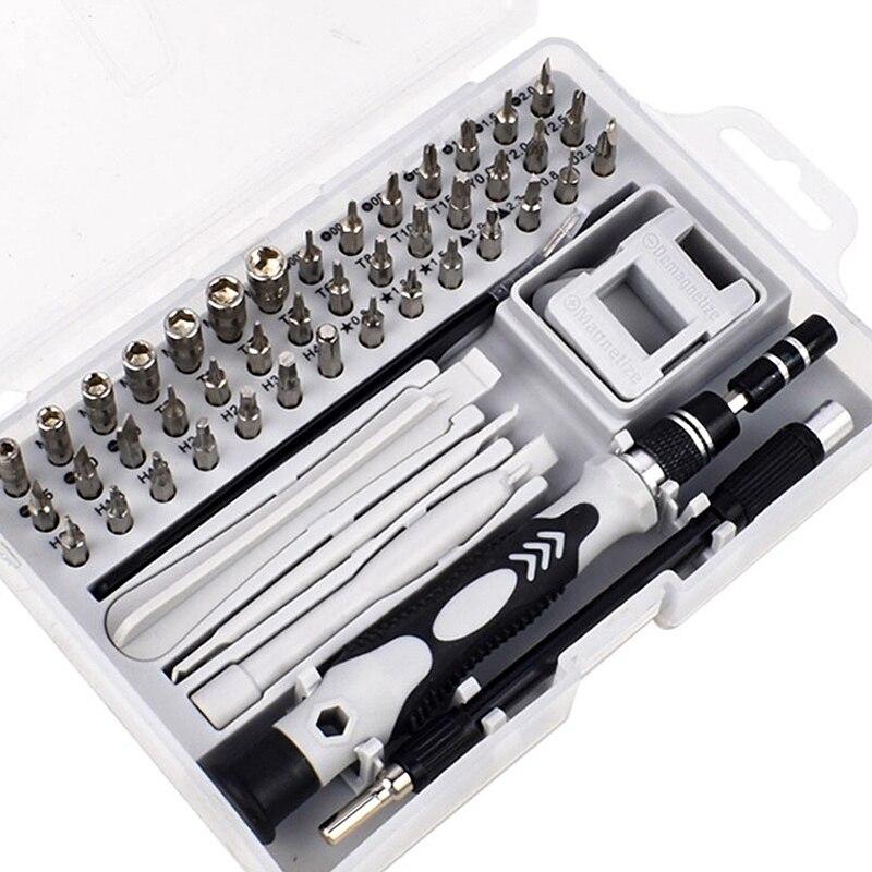 52 In 1 Multifunctional Chrome Vanadium Steel Screwdriver Set Precision Screwdriver Electronic Equipment Repair Manual Tool