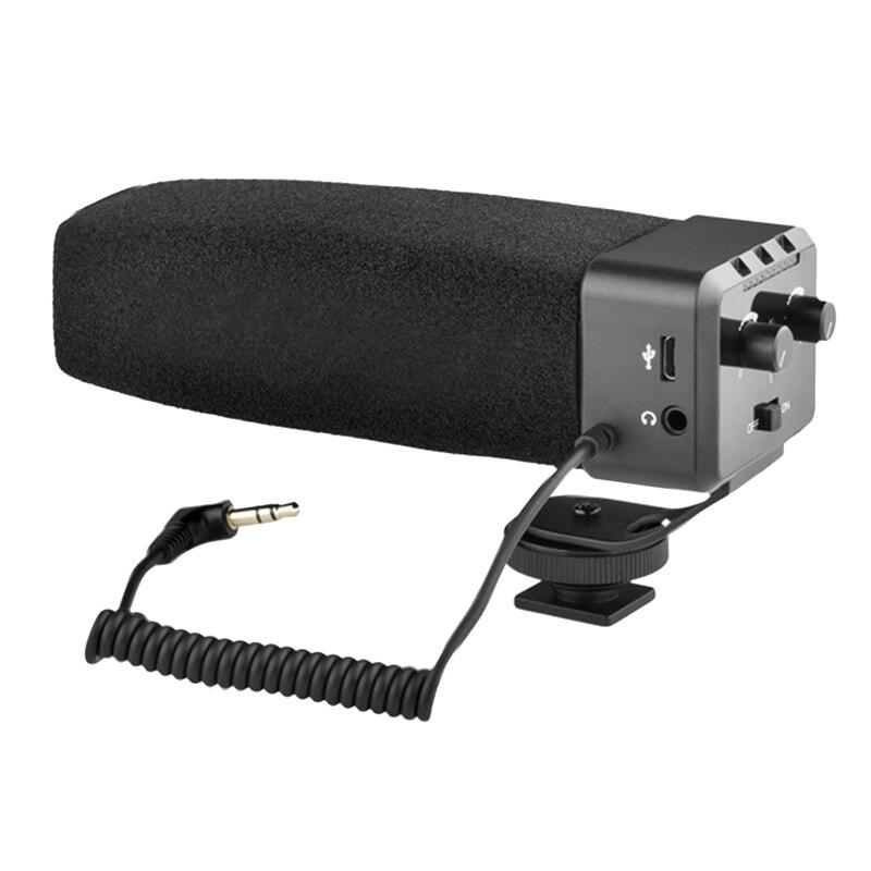 تسجيل الفيديو ميكروفون كاميرا الفيديو الهاتف الذكي مقابلة ميكروفون لكانون سوني نيكون كاميرا