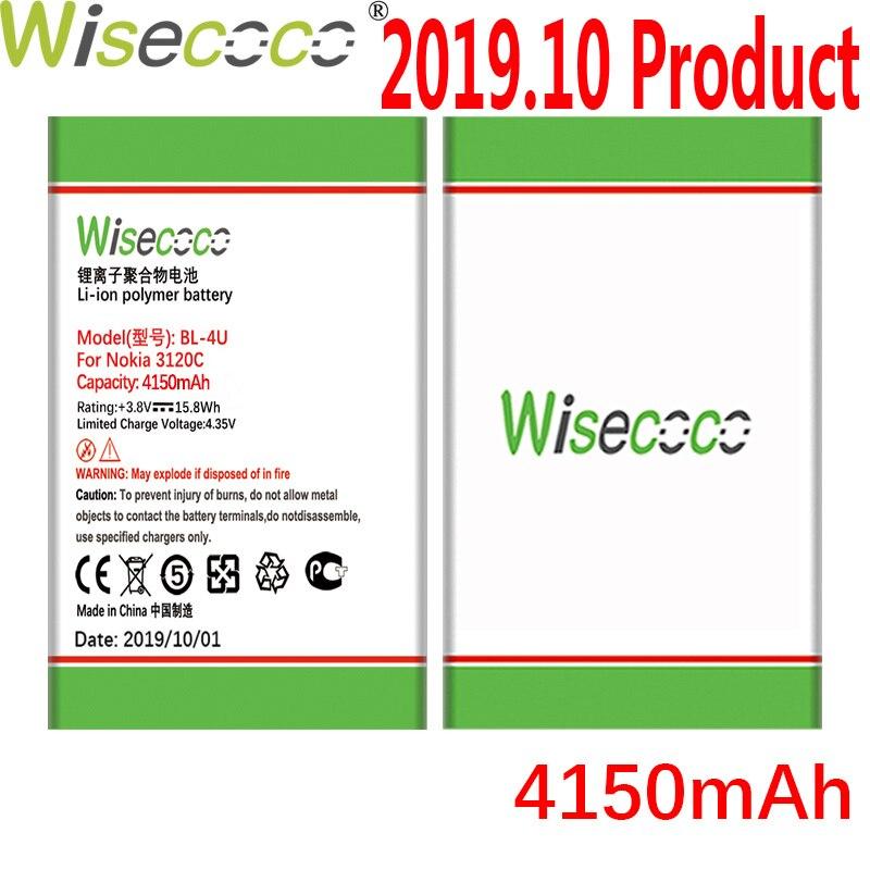 WISECOCO BL-4U 4150mAh batería de la batería para Nokia 3120c 5250, 206, 515, 5330 5530XM XpressMusic 5730 6212c teléfono batería de alta calidad