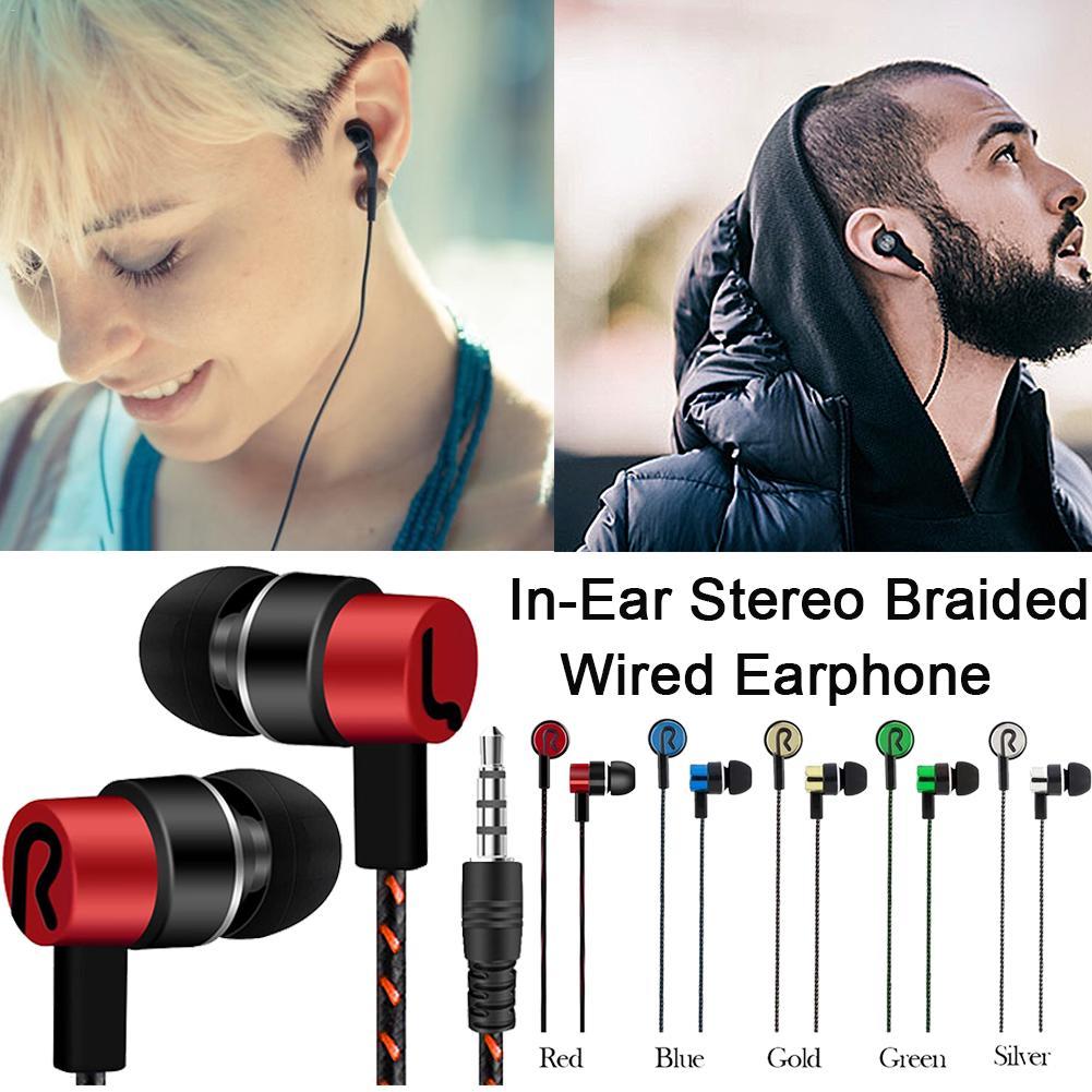 Модные стереонаушники в ушах, плетеная Проводная гарнитура, музыка, светоотражающая леска, украшения, удобные спортивные наушники