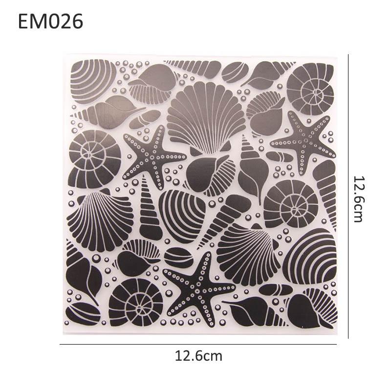 Plantilla de plástico con diseño de Conch de starfishs, carpetas de plantillas de relieve, álbum de fotos DIY, tarjetas de papel para manualidades, fabricación de tarjetas de papel 1 piezas