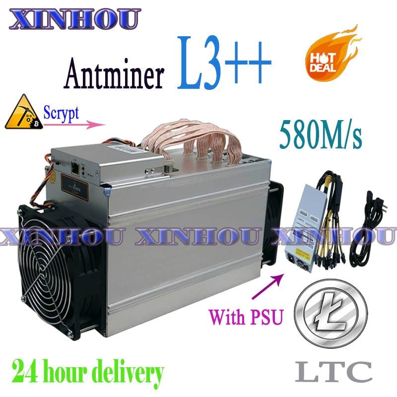 تستخدم أسيك Litecion عامل منجم ANTMINER L3 + + 580M Scrypt LTC عامل منجم أكثر اقتصادا من S9 S19 T19 Z15 A1 A6 A10 M30S M31S M20S M21S