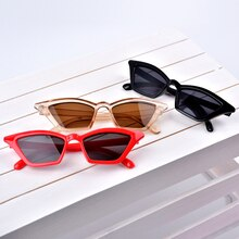 UEESHOP 2021 New Cat Eye Sunglasses Women Brand Design Retro Colorful Transparent Colorful Fashion C