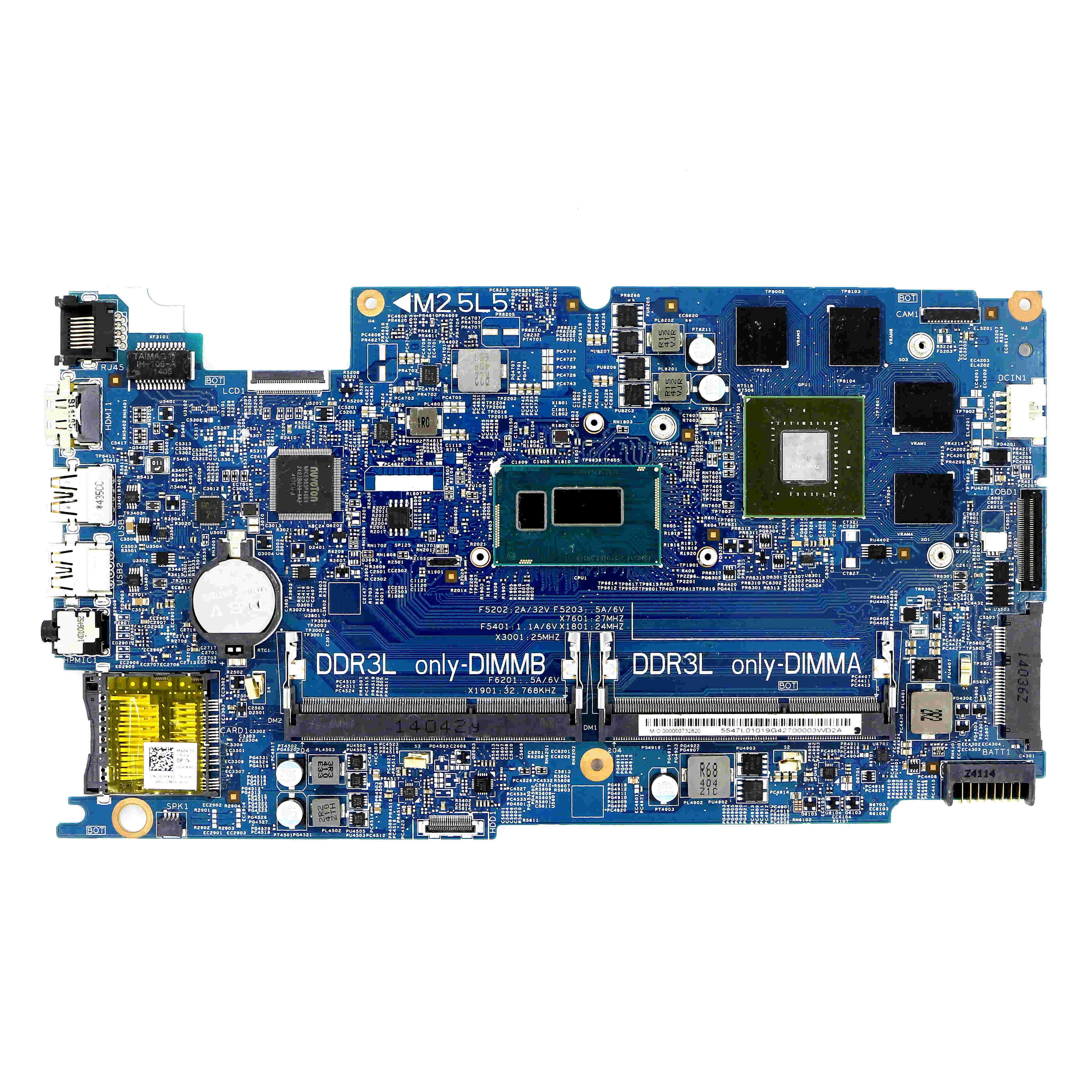 DPX9G - DSC DDR3L płyta główna KJ7NX DOH50 12311-2 w/ i7-4510U 2.0GHz + GT 750M V2G do laptopów DELL Inspiron 15 (7537) FHD