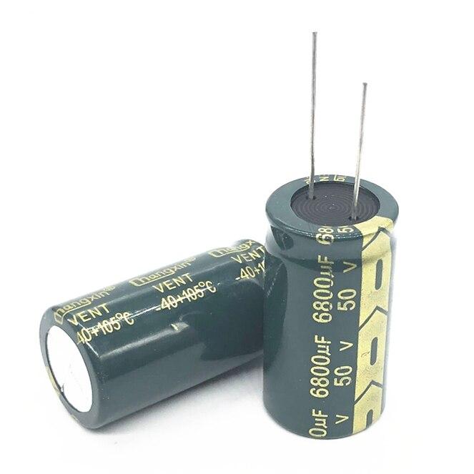 6-20 unids/lote 50V 6800UF 22*40 condensador electrolítico de aluminio 6800uf 50V 20%