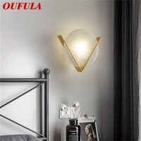 oufula brass sconce%c2%a0wall%c2%a0lamp modern luxury design marble led light balcony for home living room corridor