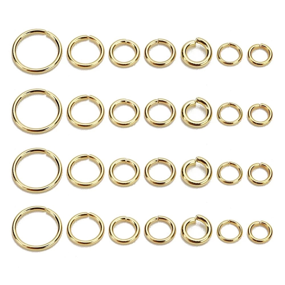 100Pcs/lot Stainless Steel Open Jump Ring 4/5/6/8mm Dia Round Gold Color Split Rings For Diy Jewelry Making Findings Wholesale 1 box 4 5 6 7 8 10mm jewelry findings open jump split rings connector for diy jewelry findings making rhodium gold silver color