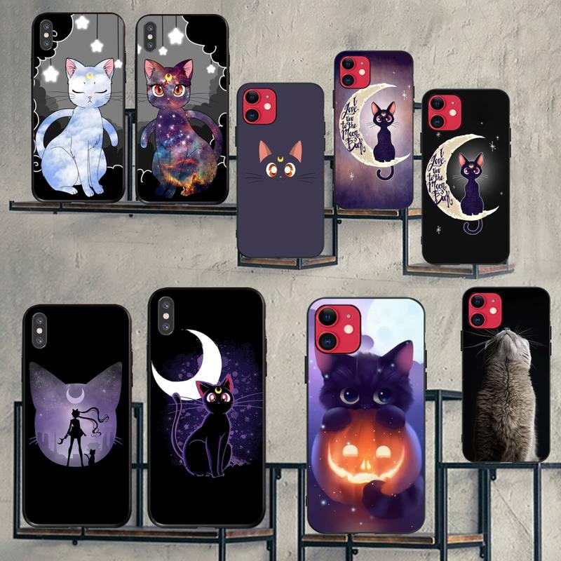 HPCHCJHM sailor moon cat Luxury Unique Design Phone Cover for iPhone 11 pro XS MAX 8 7 6 6S Plus X 5S SE 2020 XR case