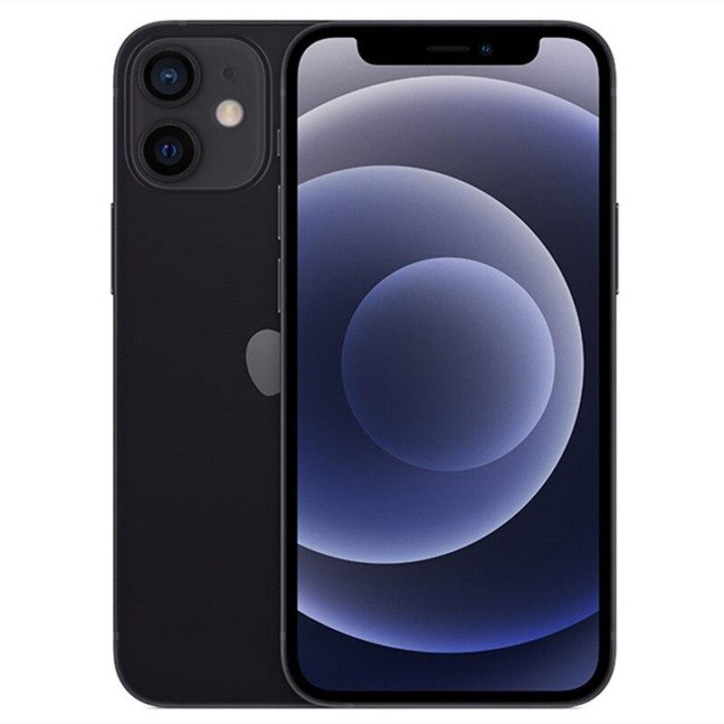 Перейти на Алиэкспресс и купить Разблокированный б/у iPhone 12 Mini IOS 5G смартфон A14 бионические приманки для рыбной ловли 64G 5,4 ''дюймовый экран двойной 12MP камера Сотовый телефон