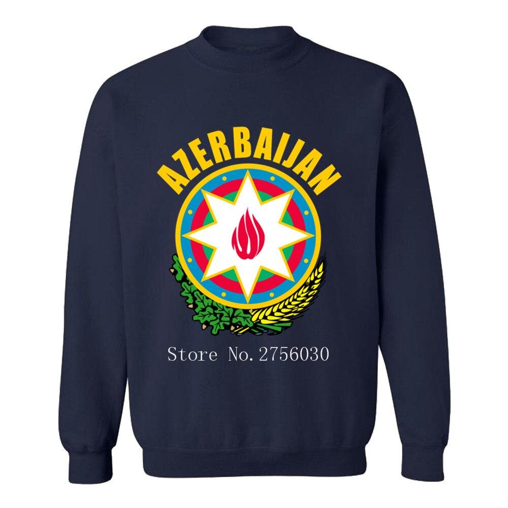 Azerbaiyán Escudo de Armas de la camiseta de los hombres de moda sudaderas con capucha y sudaderas de cuello redondo cuello O de ocio de algodón sudaderas con capucha