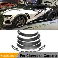 high quality carbon fiber wheel arch fender flares for chevrolet camaro 2016 2019 car mudguards cover trims