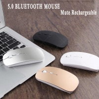 Bluetooth-мышь для ноутбука Huawei, Macbook, Dell, Acer, Hp, Asus, Win10, Chrome os, Windows, Andriod, IOS, перезаряжаемая мышь