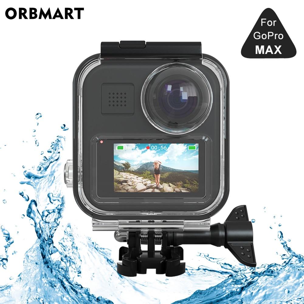 جراب مقاوم للماء بشاشة تعمل باللمس لـ GoPro MAX 360 ، جراب واقٍ للغوص تحت الماء ، ملحقات كاميرا Go Pro Max