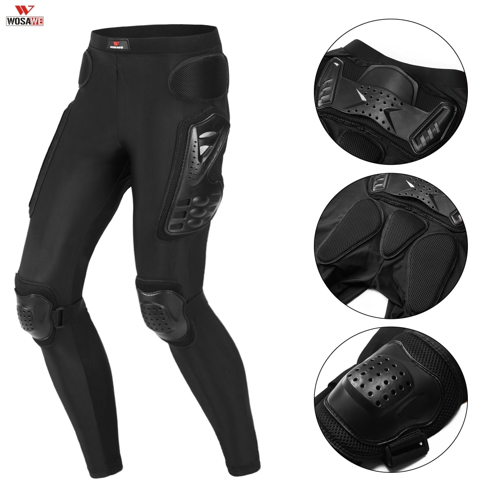 WOSAWE Motorcycle Riding Pants With Armor Knee Hip Pads Motocross Racing Pants Motorbike Cycling Trousers Armor Protective Pants four seasons riding tribe motorcycle pants with knee hip pad moto motocross trousers body armor m l xl 2xl 3xl 4xl