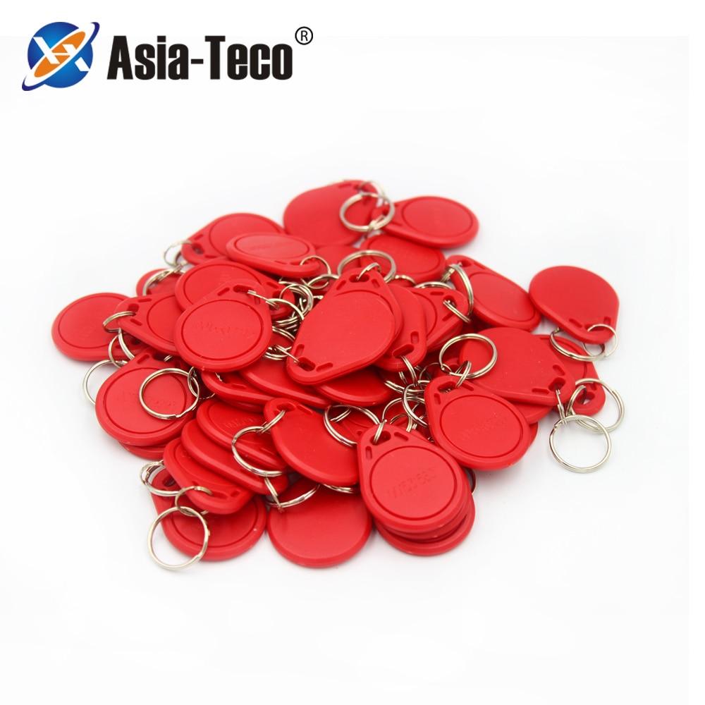 100pc/lot 125khz RFID Keychain NO3 ID Keyfob RFID Tag TK4100 Access Control Card Sticker Key Fob  Ring Proximity