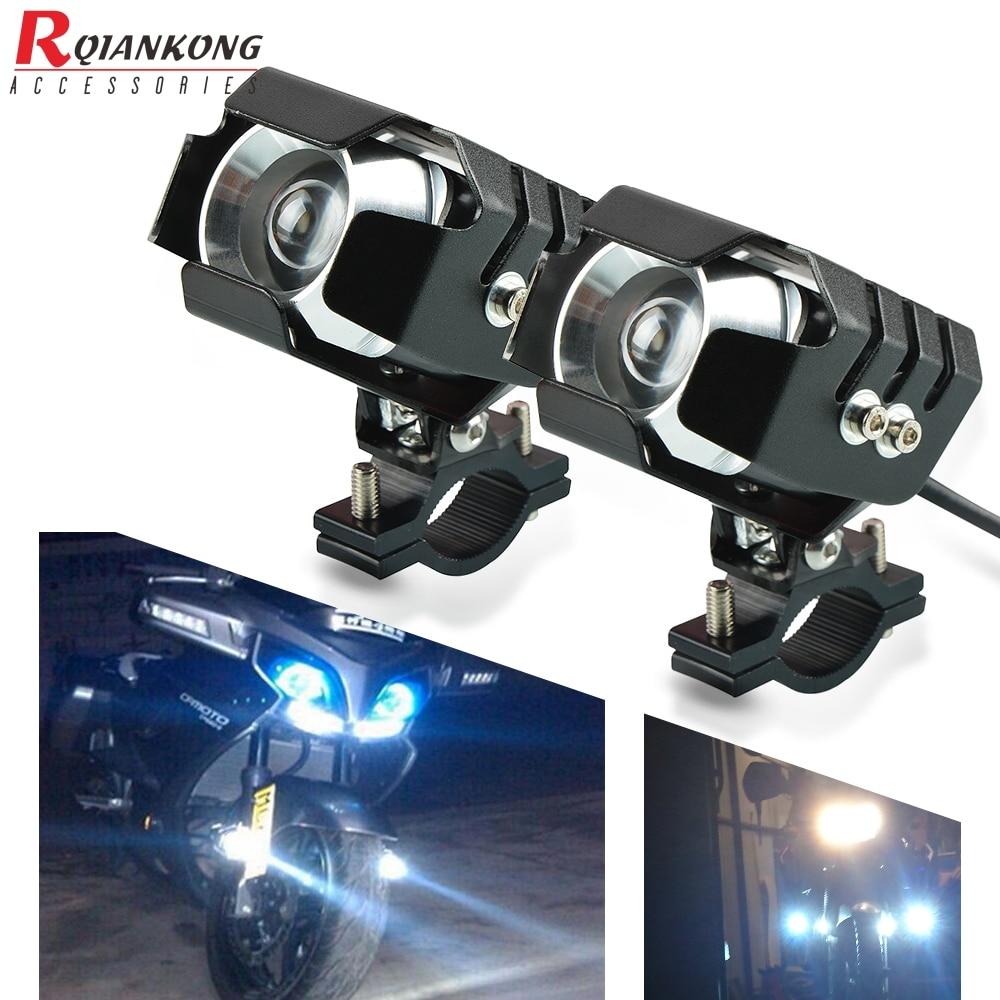 Motocicleta 2pcs LED auxiliar névoa clara Driving Light + 2Psc Guarda de protecção + 1Psc interruptor fiação para KTM 790 Aventura 790 ADV R / S