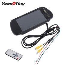 YuanTing 7 zoll LCD TFT Auto Reverse Parkplatz Rückansicht Backup Spiegel Monitor mit Touch-Taste Unterstützung Zwei Möglichkeiten Von video Eingang
