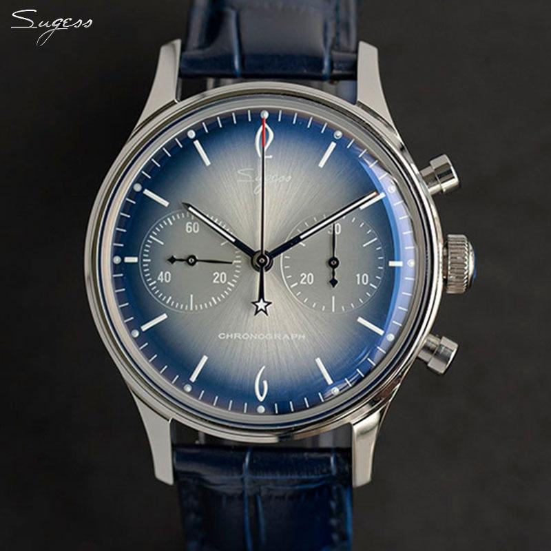 Men Luxury Mechanical Chronograph Pilot Wristwatches For Men 40mm Seagull Movement st1901 Watch Men