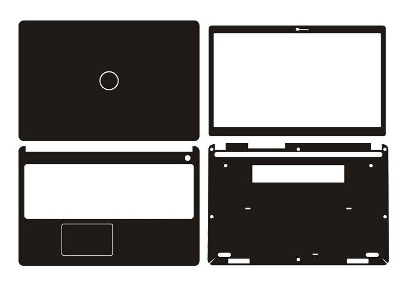 """J Laptop adhesivo pegatina para la piel Protector de la cubierta de fibra de carbono para Dell Latitude 3580 15,6"""""""