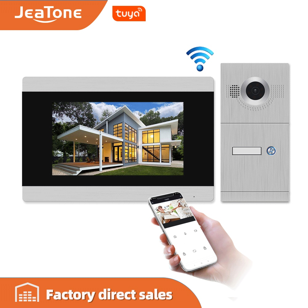 7 inch Touch Screen WIFI IP Smart Video DoorPhone Intercom System with doorbell support iOS/Android Tuya smart APP Remote Unlock