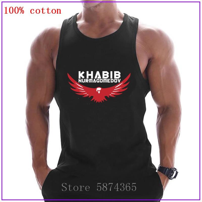 Camisetas sin mangas para hombre Khabib Nurmagomedov MMA Fighter blanco ropa deportiva chaleco Fitness gyms camiseta músculos sin mangas