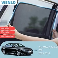 magnetic car sunshade front windshield door mesh frame curtain for bmw 5 series e60 2003 2010 side window sun visor protection