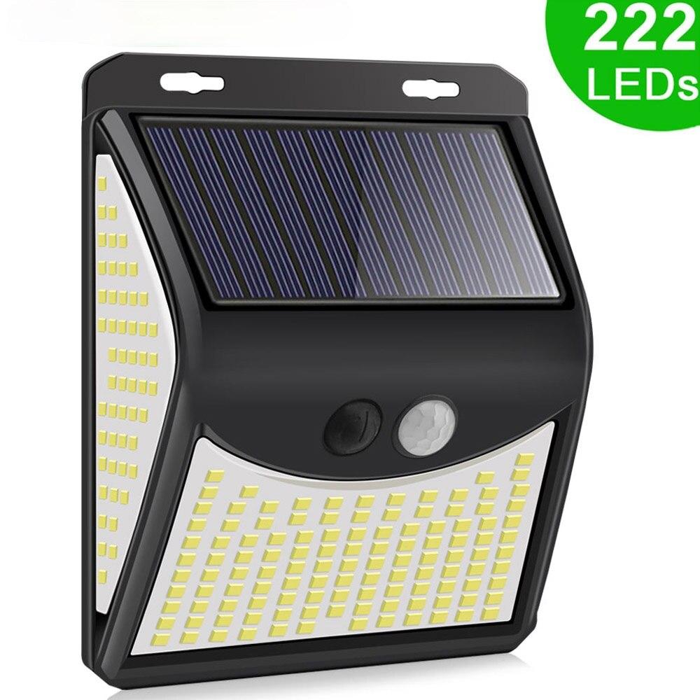 3Mode Waterproof 140 LED Solar Motion Sensor Light Outdoor Street for Garden Decor Sunlight Powered Solar Wall Lamp with Sensor
