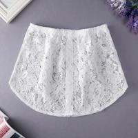 women fake shirt tail blouse hem skirt removable underskirt sweater extender