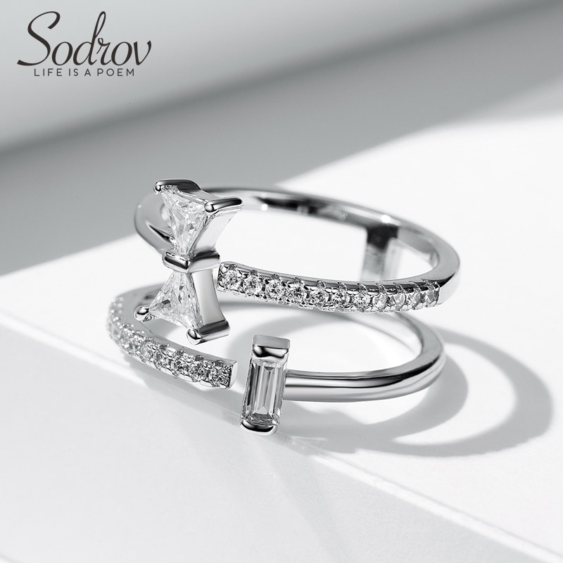 Silver 925 Ring Silver Rings For Women Zircon Ring Open Ring Silver 925 Jewelry Silver Ring