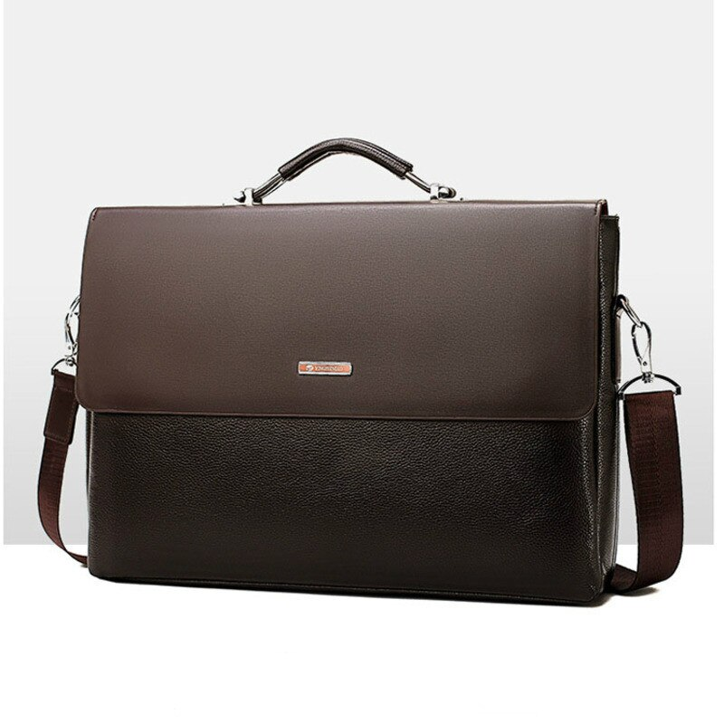 Fashion Business Leather Men Shoulder Bag Briefcase Laptop Handbag 2021 Casual Man Bag For Male Office Messenger Bags Briefcases