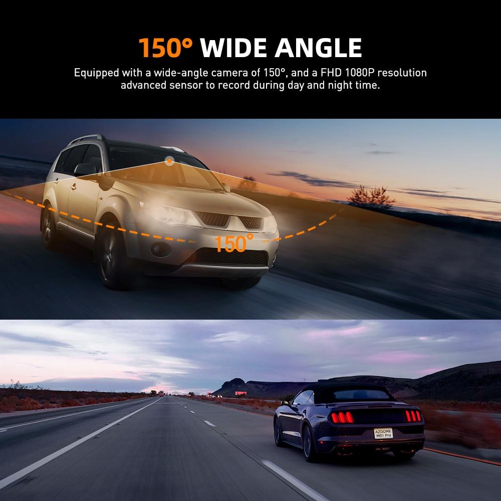 Newest AZDOME M01 Pro FHD 1080P Dash Cam, 3 Inch DVR Car Driving Recorder, Night Vision, Park Monitor, G-Sensor, Loop Recording