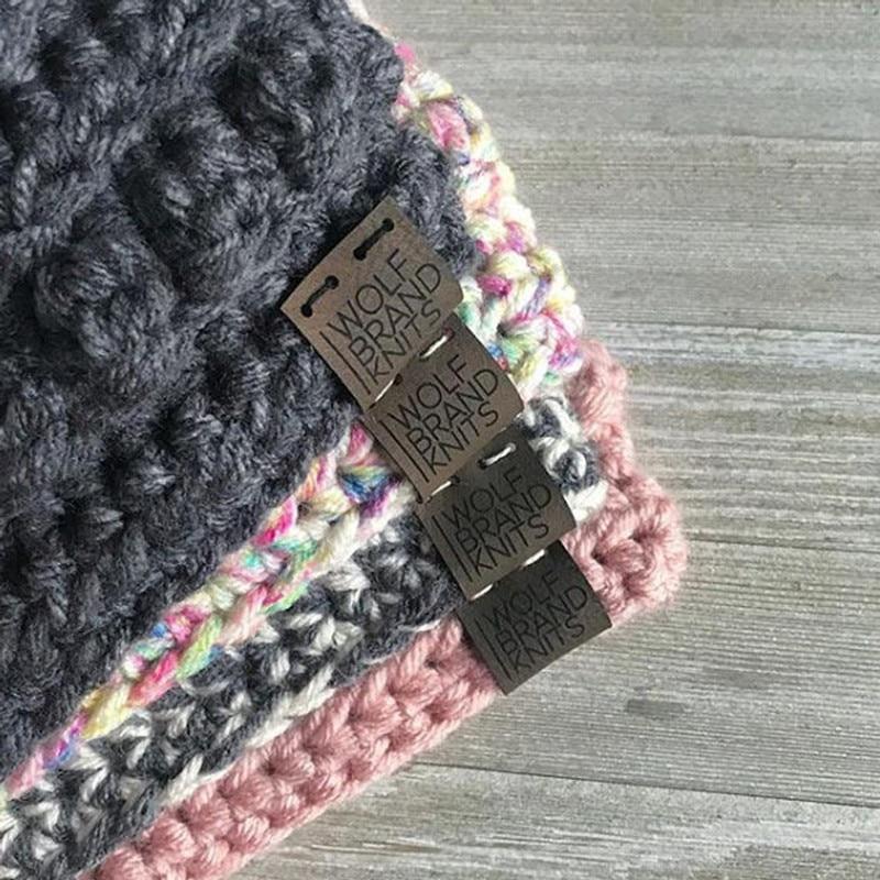 40 шт., швейные этикетки ручной работы для вязания крючком, персонализированная кожаная одежда, этикетки с логотипом бренда, одежда, шляпа-яр...