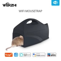 wifi mouse trap rat big mice db killer mousetrap muizenval emmer val bucket cage tuya smart life alexa google home app remote