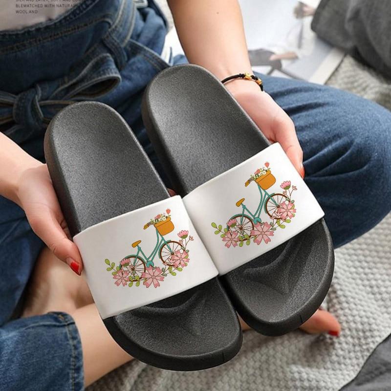 Summer Shoes Woman Home Slippers Soft Sole Beach Slides outdoor Sandals Casual Anti-slip filp flops